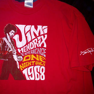 JIMI HENDRIX Experience One Night Only 1968 Shirt